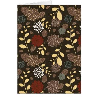 Cartão Ramos bonitos das folhas das flores