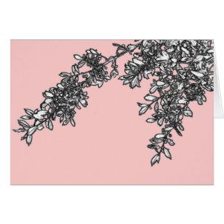 Cartão Ramos cor-de-rosa