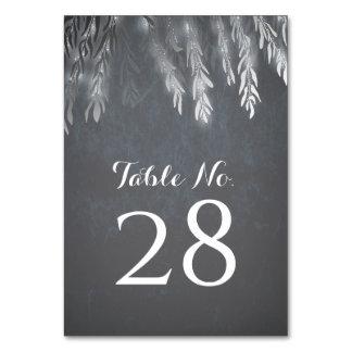 Cartão Ramos de árvore do salgueiro de prata que Wedding