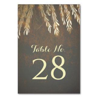 Cartão Ramos de árvore do salgueiro do ouro que Wedding o