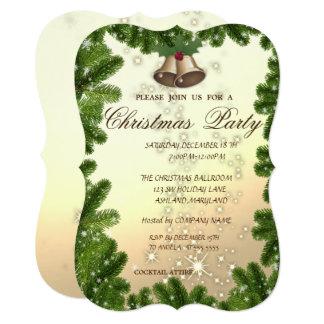 Cartão Ramos de árvore, festa de Natal de Bell, Empresa