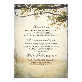 Cartão Ramos de árvore rústicos da queda que Wedding