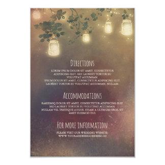 Cartão Ramos de árvore rústicos e frascos de pedreiro que