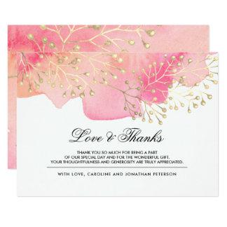 Cartão Ramos do pêssego do rosa | que Wedding o obrigado