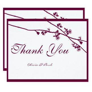 Cartão Ramos florais do Wildflower da ameixa que Wedding