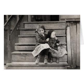 Cartão Rapariga que importa-se com sua Irmã, 1911