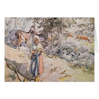 Cartão Rapariga que tece, 1905