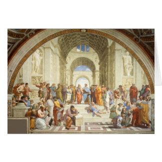 Cartão Raphael - A escola de Atenas 1511
