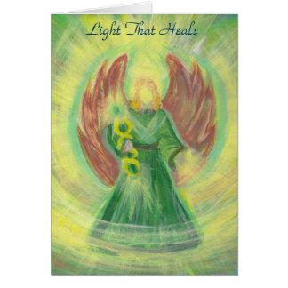 Cartão Raphael do arcanjo: A luz que cura