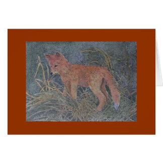 Cartão raposa vermelha