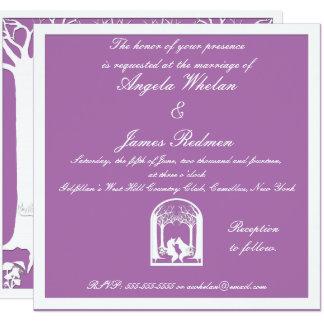 Cartão Raposas de papel na orquídea brilhante