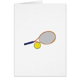 Cartão Raquete e bola
