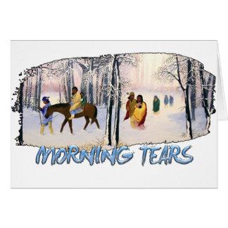 Cartão Rasgos da manhã