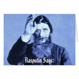 Cartão Rasputin diz: