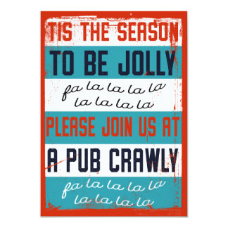 Cartão Rastejamento de bar do feriado/rastejamento da