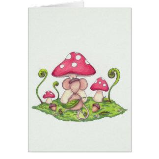 Cartão Rato do cogumelo