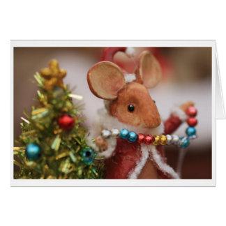 Cartão Rato do feriado