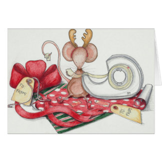 Cartão Rato do papel de embrulho