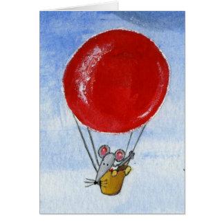Cartão Rato & telhados do balão
