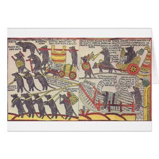 Cartão Ratos que enterram o gato