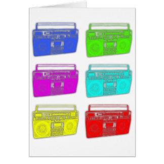 Cartão Raver da cor de BOOMBOX multi