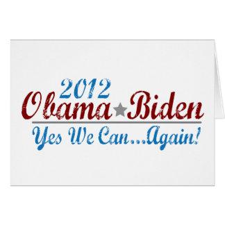 Cartão re-elect 2012 de Barack Obama