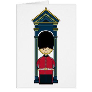 Cartão real britânico da guarda
