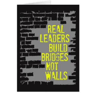 Cartão real da obscuridade dos líderes