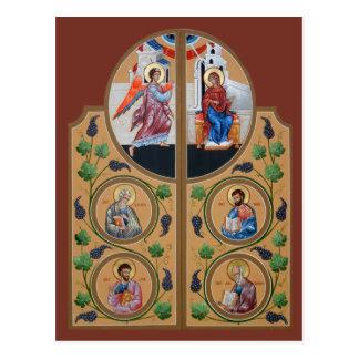 Cartão real da oração das portas