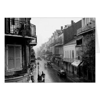 Cartão real da rua de Rainswept