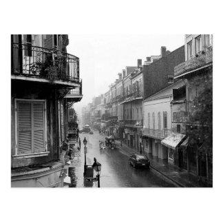 Cartão real de Nova Orleães da rua de Rainswept