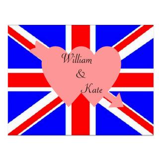 Cartão real do casamento de William e de Kate