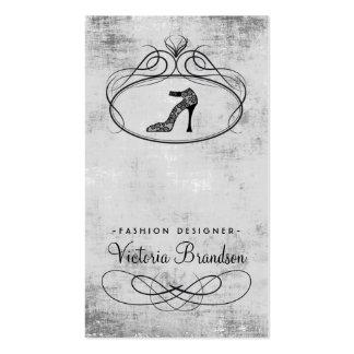 Cartão real do damasco do emblema dos calçados do  cartão de visita