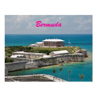 Cartão real do estaleiro naval de Bermuda
