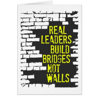 Cartão real dos líderes