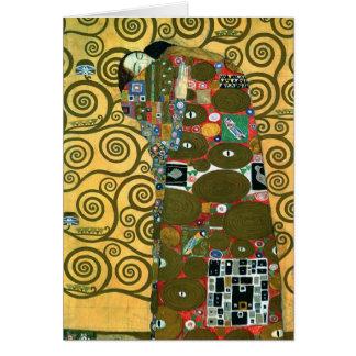 Cartão Realização (o abraço) por Klimt, obrigado