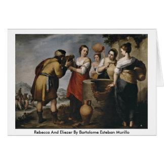 Cartão Rebecca e Eliezer por Bartolome Esteban Murillo