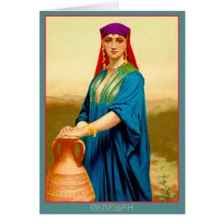 Cartão Rebekah no poço