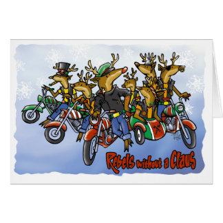 Cartão Rebeldes sem uns desenhos animados do feriado da