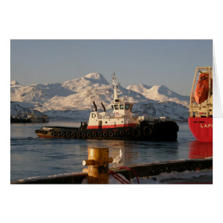 Cartão Rebocador de James Dunlap no porto holandês, AK