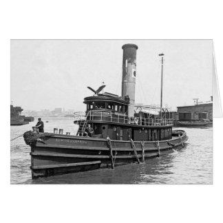 Cartão Reboque 1905 do vapor