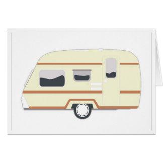 Cartão Reboque de campista Van de acampamento