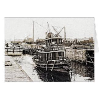 Cartão Reboque e barcas 1915