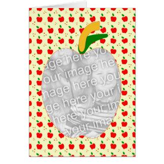 Cartão Receita da torta de Apple da avó