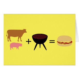 Cartão Receita do hamburguer do bacon