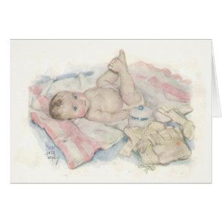 Cartão recém-nascido do bebê