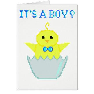 Cartão recém-nascido do bebé do pixel