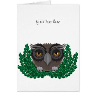 Cartão recém-nascido do vazio da coruja