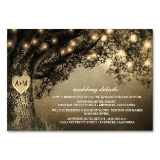 Cartão Recepção cinzelada rústica do carvalho do vintage