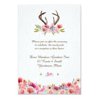 Cartão Recepção de Bois do falso dos Wildflowers dos